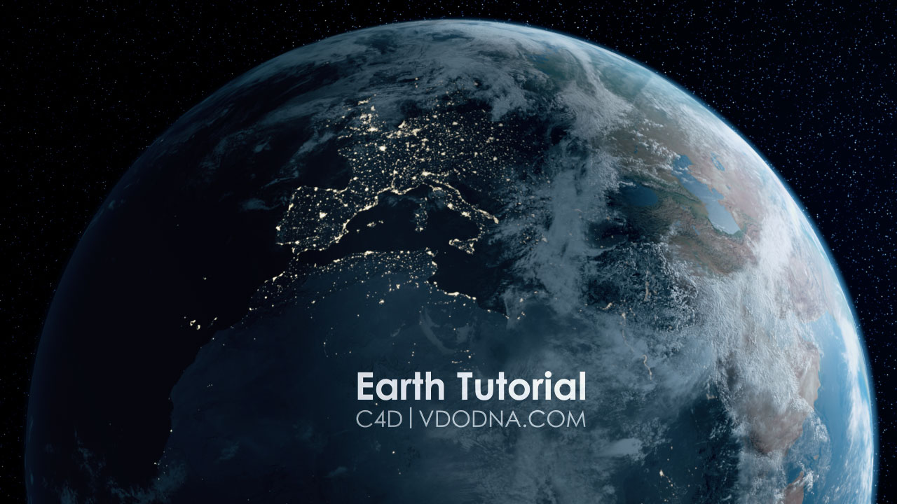 New Tutorial in C4D! photo-Realistic Earth in 10 min!