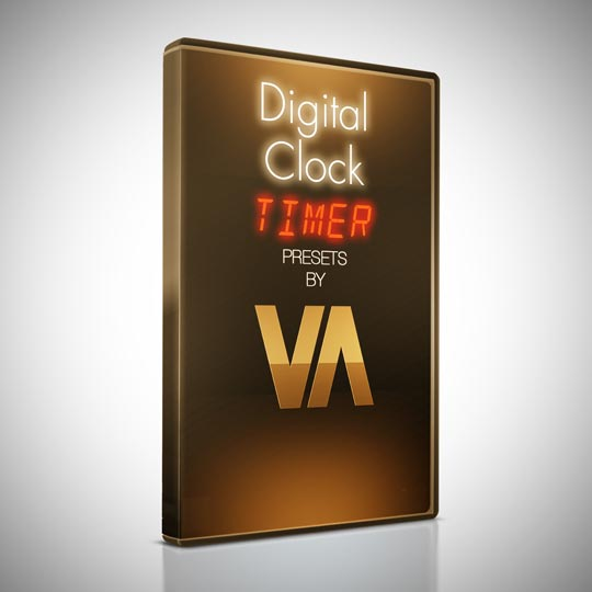 digital clock timer after effects