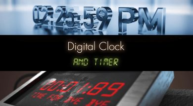 Digital clock Timer Presets 2