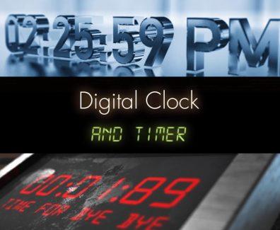 Digital clock Timer Presets 2