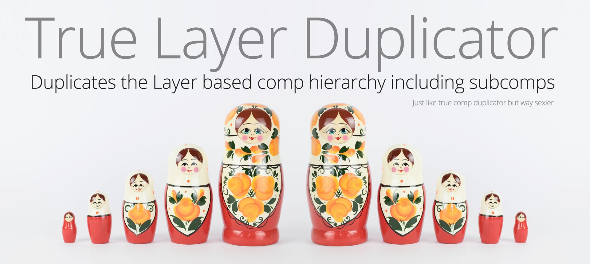 True Layer Duplicator script for After Effects