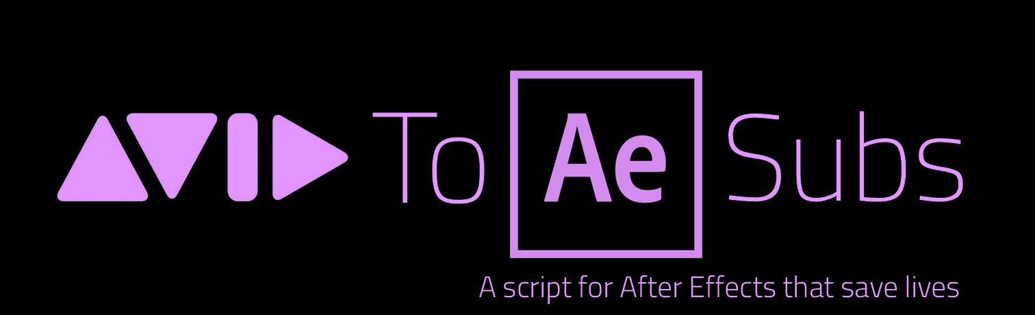 Avid to AE subs script for After Effects